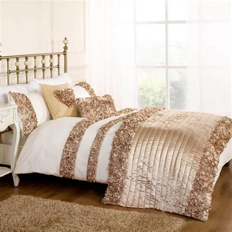 Comforter Set With Matching Curtains Roses Double Duvet Set Gold From Litecraft