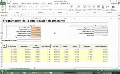 como calcular un prstamo youtube excel f 225 cil c 243 mo calcular un pr 233 stamo en excel 2013 youtube