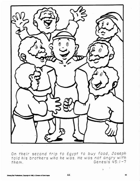 Joseph Forgives His Brothers Coloring Page joseph coloring pages joseph forgives his brothers