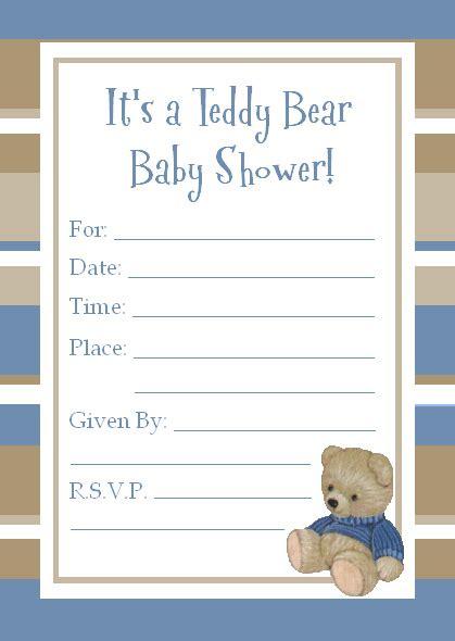 Free Printable Teddy Bear Baby Shower Invitations Theruntime Com Teddy Baby Shower Invitations Templates Free
