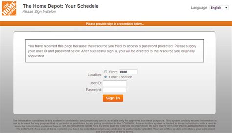 Your Schedule Home Depot home depot apron schedule login