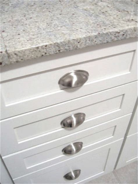 White Kitchen Cup Pulls Traditional Kitchen Richmond Traditional Kitchen Cabinet Handles