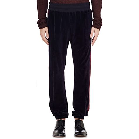 Striped Velvet Sweatpants haider ackermann velvet tux stripe sweatpants in black for
