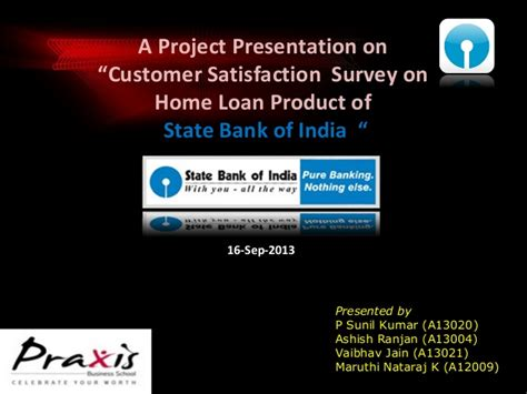 sbi house loan details sbi home loan customer perception survey