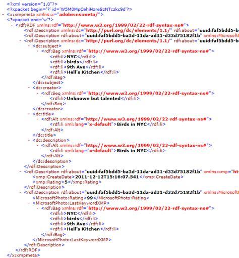 xml metadata tutorial aspjpeg com user manual chapter 7 metadata extraction