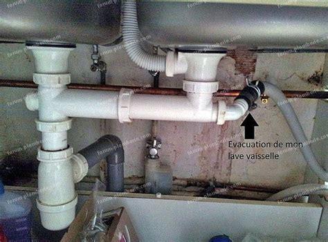 Branchement Lave Vaisselle Sous Evier by Schema Evacuation Evier Et Lave Vaisselle