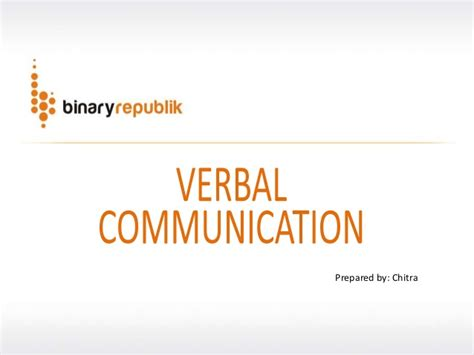 br verbal communication