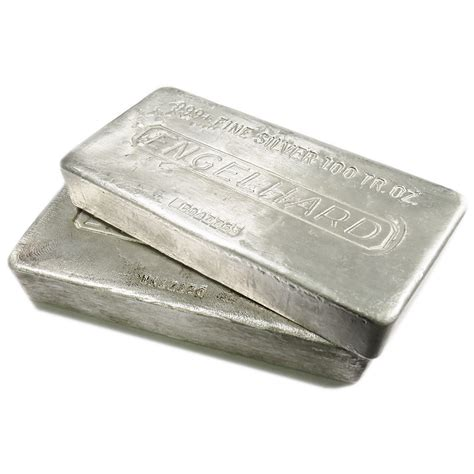 1 oz engelhard silver bar 999 100 troy oz engelhard silver bar 999 poured