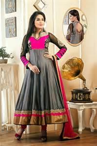 pink colour combination dresses 7 grey anarkali dress in pink color combination dressanarkali comdressanarkali com
