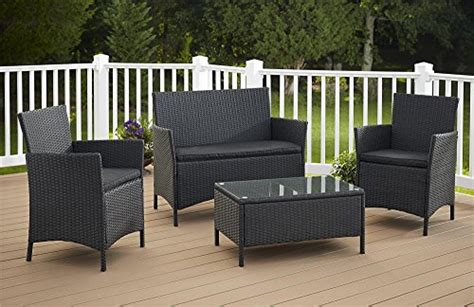 Patio Furniture For Sale In Jamaica Cosco Products 4 Outdoor Jamaica Resin Wicker