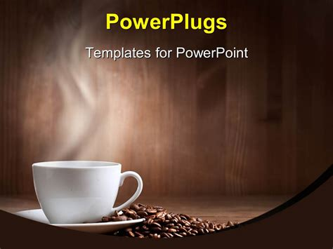 Powerpoint Template A Cup Of Coffee Along With A Number Of Coffee Beans 7533 Free Coffee Website Templates