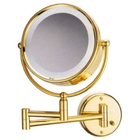 gold 8 quot magnifying mirror for bath makeup wall mounted gold lighted makeup mirror