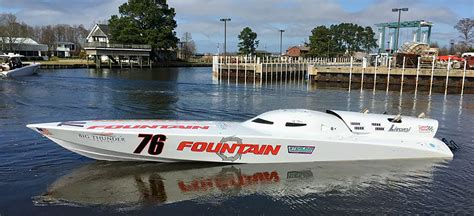 fountain boats home fountain speed record attempt comes up short runs out of