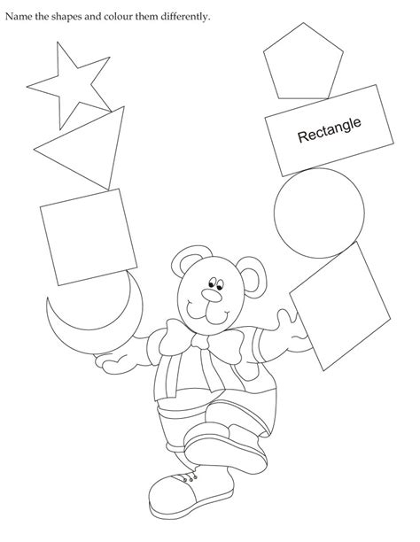 coloring pages that have names on them download english activity worksheet name the shapes and