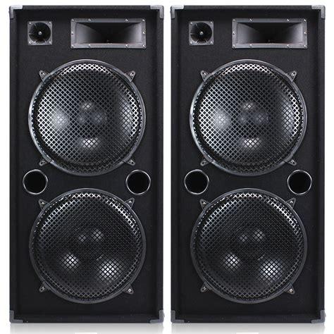 Speaker Toto Sound 15 Inch 2x Skytec Max215 Dual 15 Quot Inch Pa Speakers Dj Sound