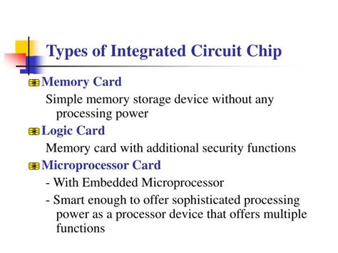 classes of integrated circuit ppt smart card powerpoint presentation id 5594493