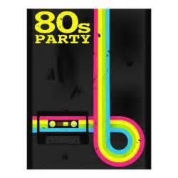 80s invitation template 80s flyers zazzle
