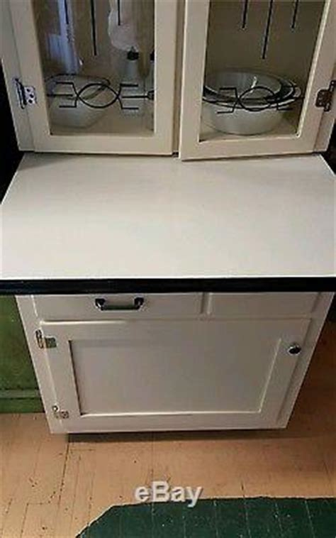 Rare Junior Hoosier Cabinet Glass Front Doors, Bread