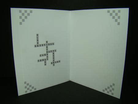 card hugs crossword unisex crossword insert photo by beverly carmichael