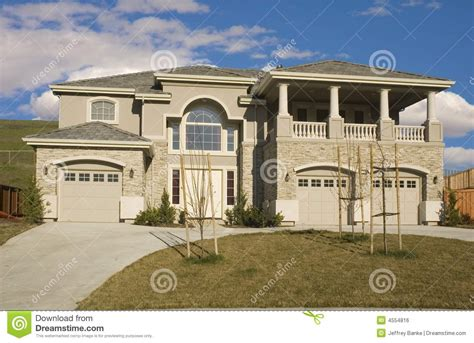 house with 3 car garage 3 car garage home stock photo image of garages real