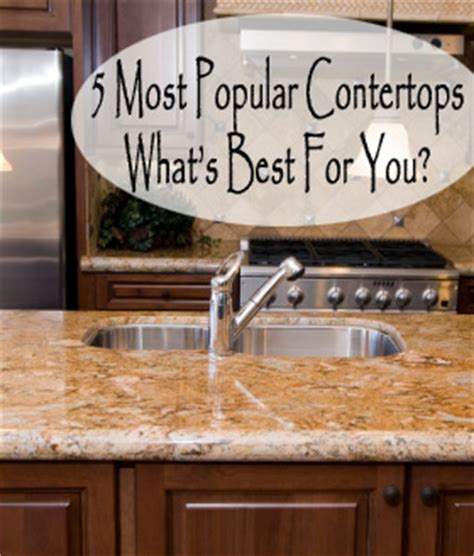 Kitchen Countertop Options Pros And Cons by Laurelnielson The 5 Most Popular Countertops Choices
