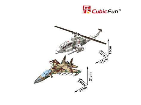 New Cubic Puzzle 3d Ah 1 Huey Cobra Sukhoi Su 35 cubicfun modellino ah 1 huey cobra sukhoi su 35 in puzzle 3d
