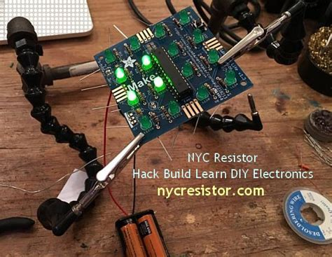nyc resistor classes hobby diy electronics do it yourself circuits and projects