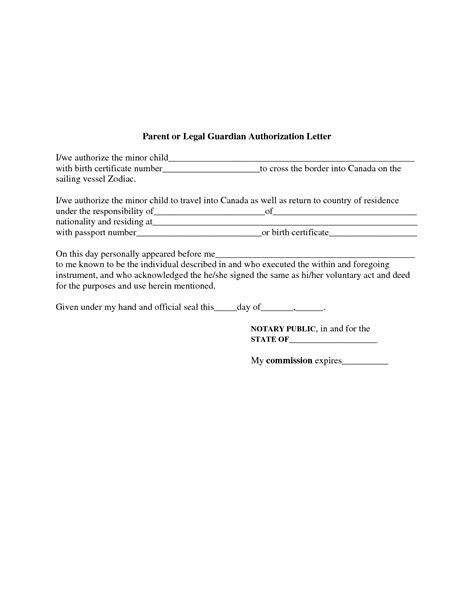 authorization letter for guardianship sle authorization letter for local guardian 28 images best