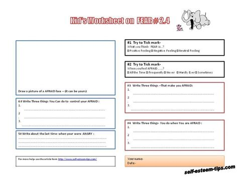 Therapy Worksheets For by Therapy Worksheets For Children Tools For Therapy