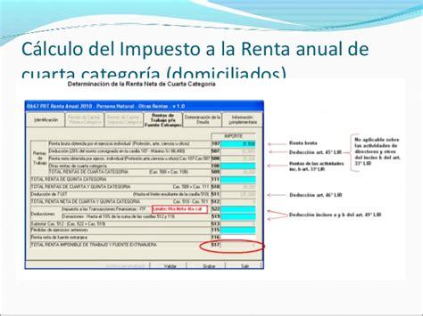 art 152 clculo del impuesto anual rentas de cuarta y quinta categor 237 a del impuesto cpc