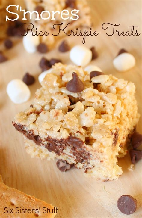 s mores rice krispie treats recipe six sisters stuff