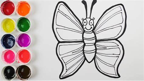 imagenes de mariposas q brillan dibuja y colorea una mariposa de arco iris learn colors