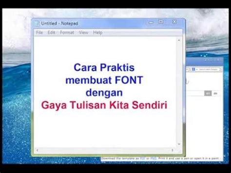 membuat video dengan tulisan tangan easy way to create font cara membuat font gaya tulisan