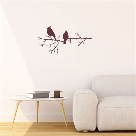 modern vinyl wall decals winter birds on branch vinyl wall stickers for modern