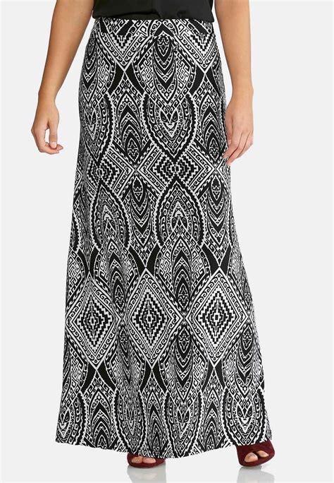 black and white medallion maxi skirt maxi cato fashions
