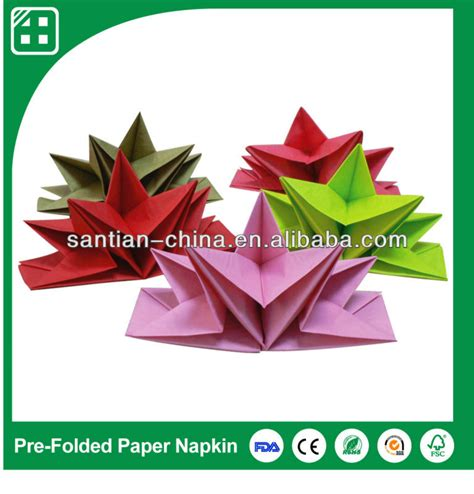 Pre Folded Paper Napkins - sell purple orange color pre folded paper napkins