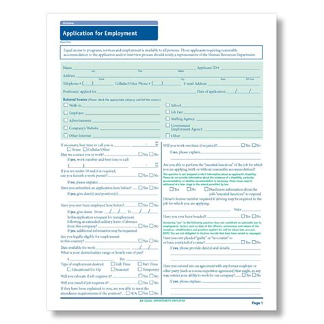 employment application template california state compliant application downloadable