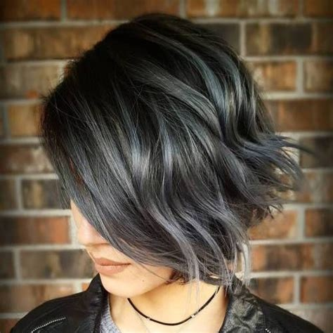 grey highlights in dark hair best 25 silver highlights ideas on pinterest grey hair