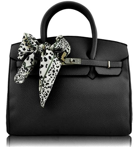 Fashion Bag 890 Black wholesale black fashion scarf tote handbag