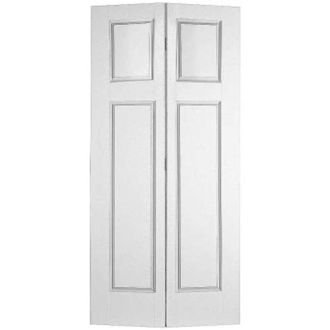 folding doors interior home depot masonite glenview smooth 4 panel hollow primed composite interior closet bi fold door 10515