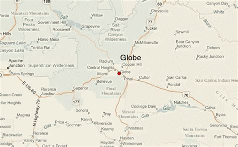 globe az maps globe location guide