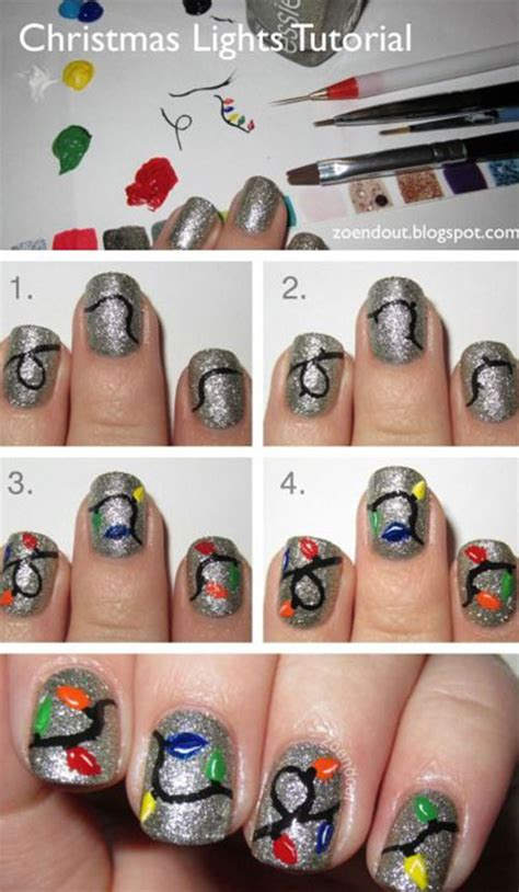 christmas nail art tutorial easy easy step by step christmas nail art tutorials for