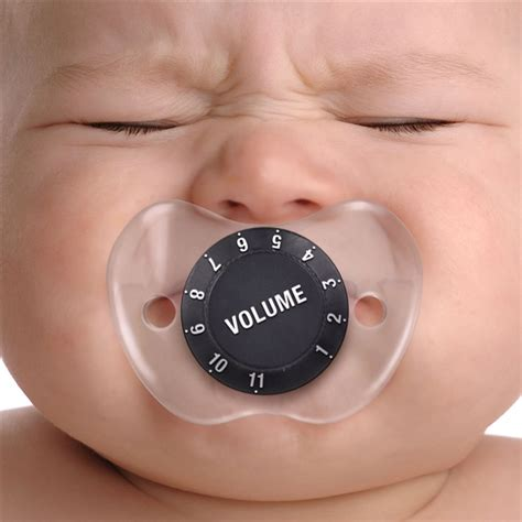 Volume Knob Pacifier by Chill Baby Pacifier Volume Knob At The Stand