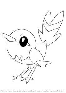 learn draw fletchling pokemon pokemon step step drawing tutorials