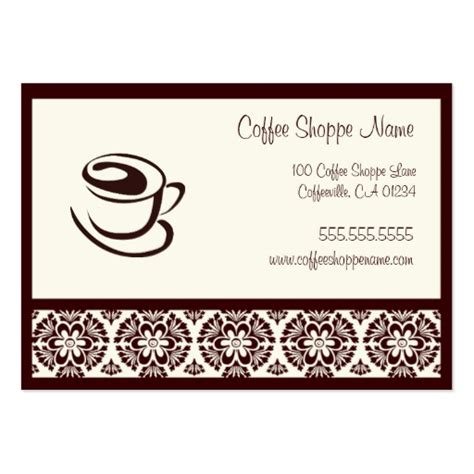 coffee business card template free coffee shoppe punch cards business card template zazzle