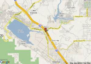 where is lake elsinore california map map of quality inn lake elsinore lake elsinore