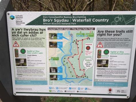 United Carry On Fees by Map From Car Park To Waterfalls Picture Of Sgwd Yr Eira
