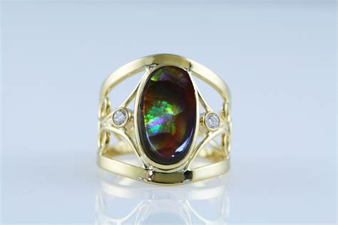 custom make jewelry crafted agate ring wrought 18k gold by