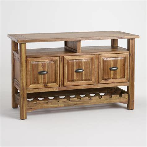 wood ransley sideboard with wine storage world market