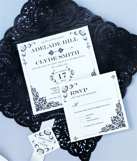 Vintage Iron Lace Square Invitation Template Download Print Square Wedding Invitation Template